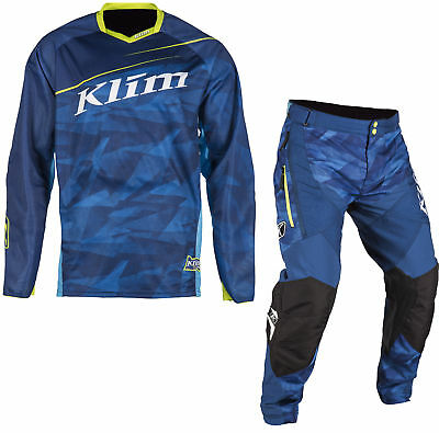 Klim Blue Mens Dakar Dirt Bike Jersey & Dakar ITB Pants MX ATV 2018