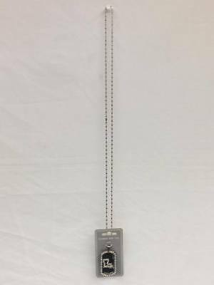 """Flag Pendant Necklace Bnw Dog Tag Army Ball Chain 28"""" Nickel Free Metal"""