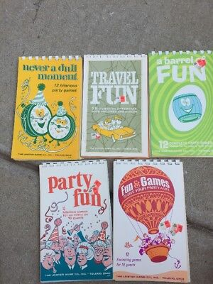 Variety Vtg Party,Travel Game Books By The Leister Game Co
