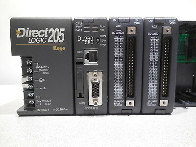 Koyo Host Automation Direct Logic 205 DL260 CPU D2-32ND3 D2TD1 modules +warranty