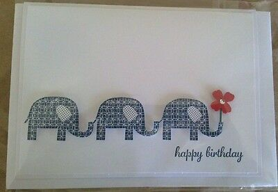 Handmade Elephant birthday card - using Stampin Up products