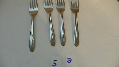 Set Of 4   Insico  International Silver   Ins74   Salad Forks  Stainless