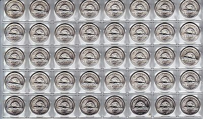 Canada 1991 Five Cent *Key Date* UNC BU MS Nickel Roll of 40 Coins!!
