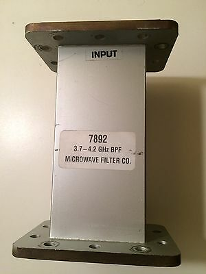 Microwave Filter MFC SERIES 7892D C-BAND BANDPASS FILTER 3.7 - 4.2 GHz