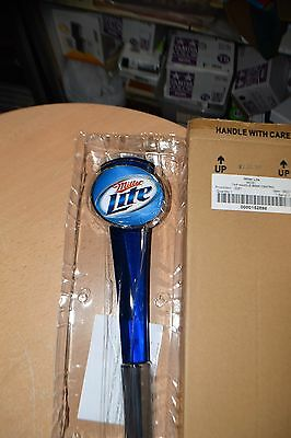 """Miller Lite Beer 12"""" Lucite Tap Handle Tapper Knob BRAND NEW IN SEALED BOX"""