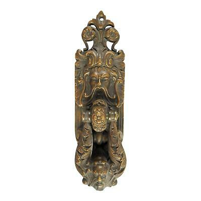 Unique Bronze Castle Sized Antique Gothic Door Knocker
