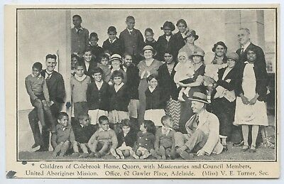 C1927 Scarce Pt Npu Postcard Aboriginal Children Colebrook Home Quorn Sa P30