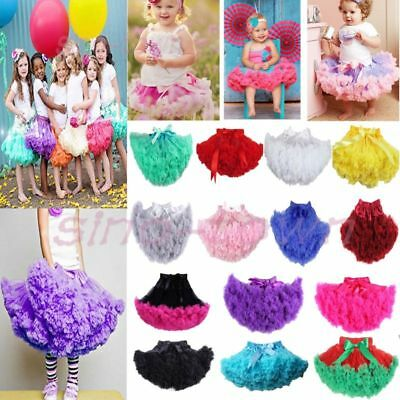 Girls Princess Multi-color Fluffy Pettiskirt Skirt Petti Party Dance Tutu Dress