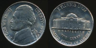 United States, 1991-D 5 Cents, Jefferson Nickel - Uncirculated