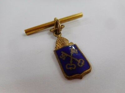 Vintage Enamel St Peters College Fob Badge / South Australia