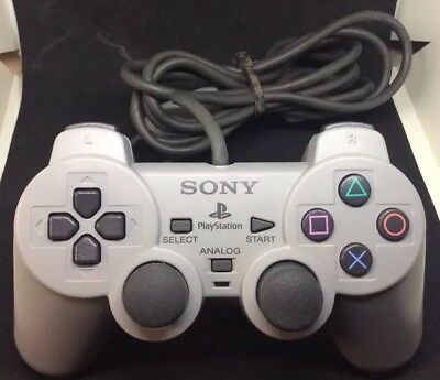 Official Sony Playstation 1 & 2 Dual Analog Controller TESTED***FREE SHIPPING***