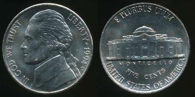 United States, 1994-D 5 Cents, Jefferson Nickel - Uncirculated