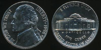 United States, 1996-D 5 Cents, Jefferson Nickel - Uncirculated