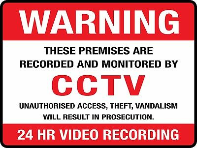 Warning Cctv 24 Hour Video Recording On Premises Sign - Sign & Sticker Options