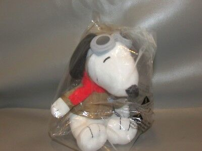 Aviator SNOOPY Dog Plush Pilot MetLife NEW Sealed Goggles Red Scarf Advertising