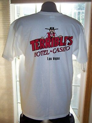 TERRIBLE'S Hotel & Casino Las Vegas T-SHIRT Size XL Front & Back Graphic T NWOT