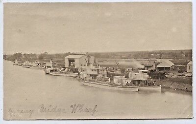 C1910 Rp Pu Postcard Paddle Steamers/engine Murray Bridge Wharf R Murray Sa P58