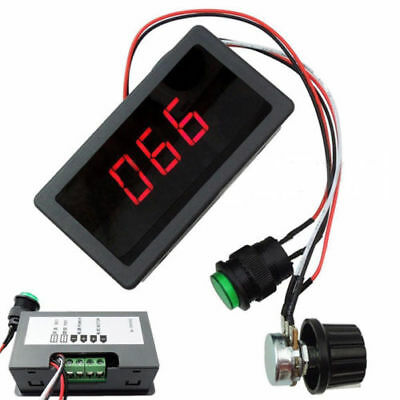 DC 6-30V 12V 24V MAX 8A Motor PWM Speed Controller With Digital Display Switch K
