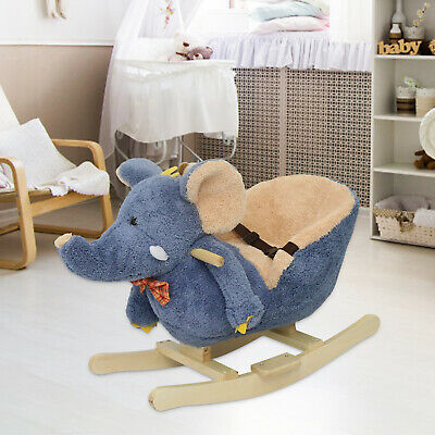 Remarkable Elephant Style Rocking Horse Toddler Ride On Toy Seat Belt Gmtry Best Dining Table And Chair Ideas Images Gmtryco
