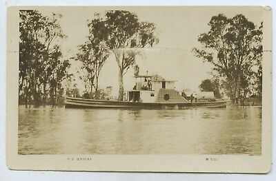 C1910 Rp Npu Postcard Paddle Steamer 'wanera' River Murray South Australaia P73