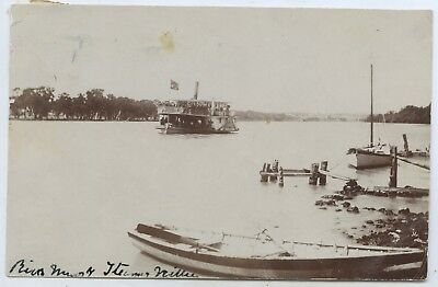 C1907 Rp Pu Postcard Paddle Steamer 'nellie' River Murray South Australia P76