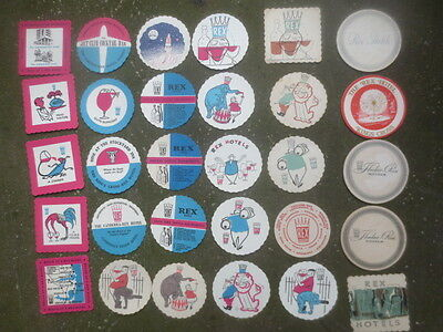 35 different REX HOTELS,Sydney ,N.S.W.  1960,s Coasters  collectable