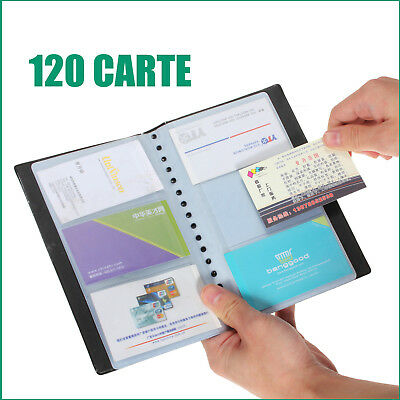 120 Cards Leather Business Name ID Credit Card Holder Book Case Keeper Organizer