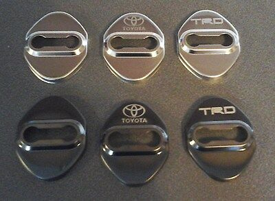 Stainless Steel Door Catch plate covers (Black TRD)
