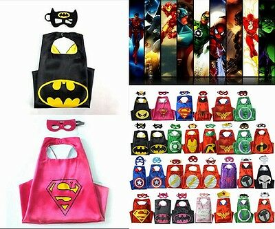 HOT Super hero Cape for kids birthday party favors and ideas (1 cape+1 mask)