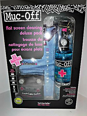 Muc-Off 250ml Deluxe TV Tablet Phone Laptop Cleaning Kit 2 clothes + FREE GIFT !
