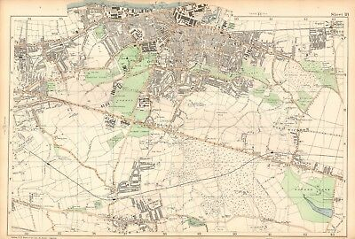 1906 Large Map-Bacon -Woolwich, Plumstead, Charlton, Eltham, Shooter's Hill