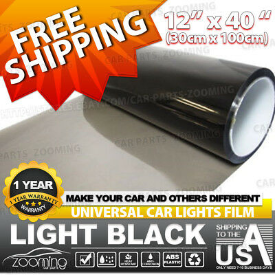 30cm x 100cm Light Black/Smoke Car SUV Headlight Taillight Tint Vinyl Film Cover