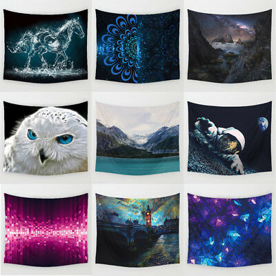Starry & Landscape Polyester Hanging Tapestry Wall Sticker Tablecloth Home Decor