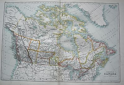 1900 Large Map Dominion Of Canada