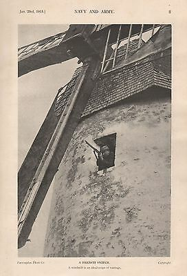 1915 Ww1 French Sniper In Windmill