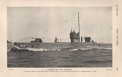 1915 Ww1 Wireless And The Submarine