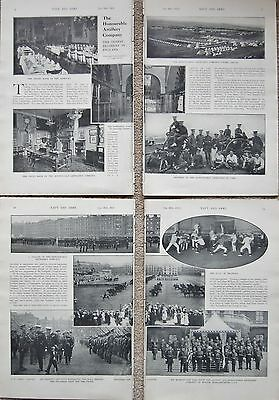 1915 Ww1 Hounourable Artillery Company 8  Page Illustrated Article