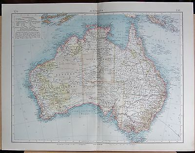 "1900 ""times""  Large Antique Map - Australia"