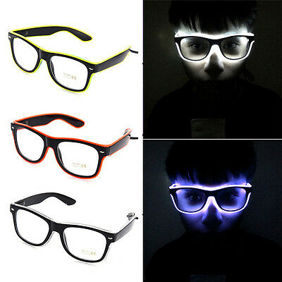 Luminous EL Neon LED Glasses Flashing Blink Sunglasses Bar Party DJ Props Hot