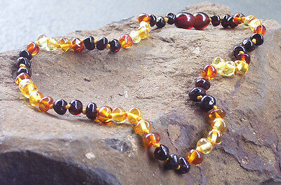 Genuine Baltic Amber Child Necklace - RAINBOW - Jewellery Beads FREE POST