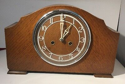 Stunning And Rare  Smiths Enfield Antique Art Deco Striking Mantel Clock. Huge