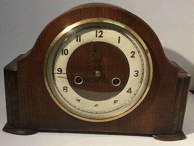 Stunning Footed Smiths Enfield Antique Art Deco Striking Mantel Mantle Clock