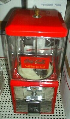 VINTAGE- Coca Cola THEMED Northwestern Candy / Gumball Machine Glass globe NICE