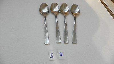 Set Of 4  Stanley Roberts  Srb158  Stainless  Teaspoons