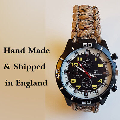Paracord Watch with Desert Rats (DR) Colours a Great Gift