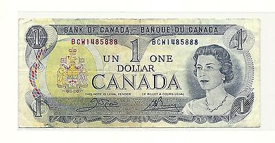 1973 Canada One Dollar Bank Note