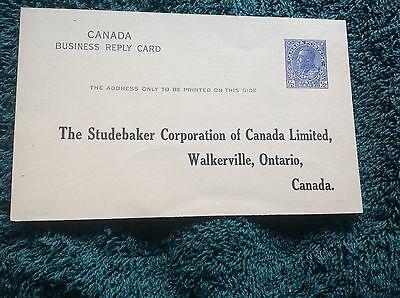 Original Studebaker Canadian Postcard Requesting Opinions At Preview Exhibition