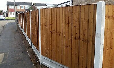 5ft by 6ft feather edge fence panel pressure treated . Delivery possible .