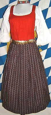 Steirisches Heimatwerk Austria Traditional Sleeveless Dirndl Dress Cotton EU 38