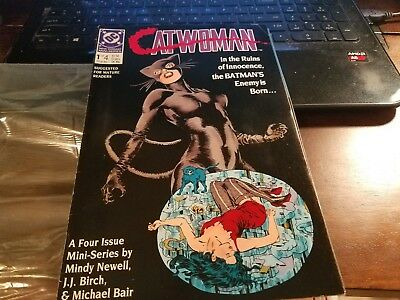 CATWOMAN #1 CGC 9.6 WP 2/89 ORIGIN ISSUE DC plus issue 2  and issue 3